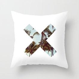 The XX Palm Trees Throw Pillow