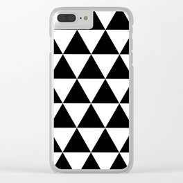 Black and white triangles Clear iPhone Case