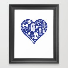 Doctor Who Love Framed Art Print