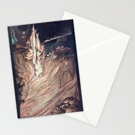 Arthur Rackham - Wagner's The Rhinegold & the Valkyries (1910) - Appear, flickering fire Stationery Cards