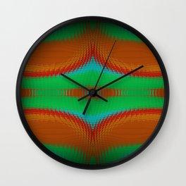 Distorted Neon Tiles Wall Clock