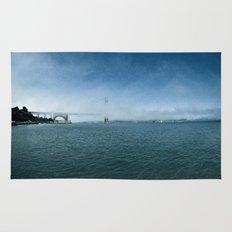 Golden Gate Bridge + Fog Rug