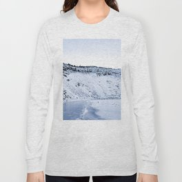 Kerid Crater In Winter, Iceland Long Sleeve T-shirt