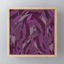 Seaweed in Ultraviolet Violet Magenta Purple Framed Mini Art Print