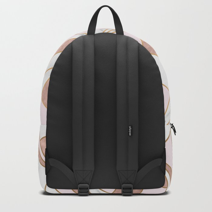 Nevertheless she persisted - rose gold marble geo Backpack