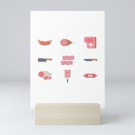 Beef, Baloney and Bacon Mini Art Print