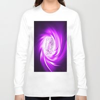 erotic Long Sleeve T-shirts featuring Space and time 8  Erotic by Walter Zettl