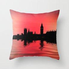 Crimson city 2 Throw Pillow