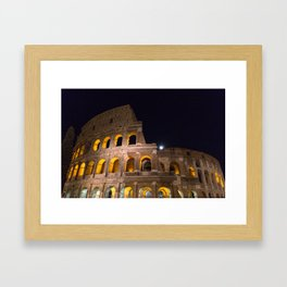Colosseum by night Framed Art Print