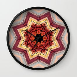 Lavinia: Sacred Mandala by Sarah Barrick Wall Clock