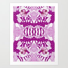 Psychedelic Adoette Art Print