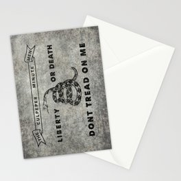 Culpeper Minutemen flag Grungy Stationery Cards