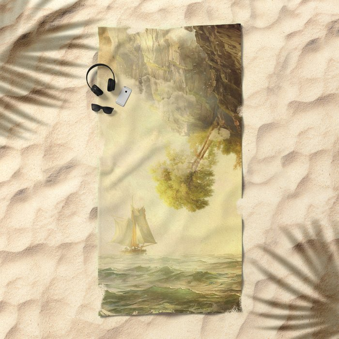To Misty Mountains Beach Towel