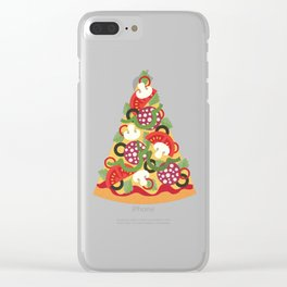 PIZZA POWER - PEPPERONI Clear iPhone Case