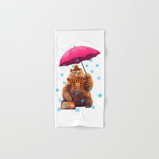 Winter bear Hand & Bath Towel