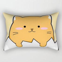 Yellow Cat Egg Rectangular Pillow