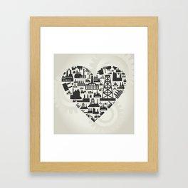 Industry heart2 Framed Art Print