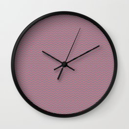 Red White and Blue Chevrons Wall Clock
