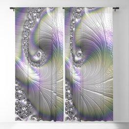 Fractal Art-Opalescent Shell Blackout Curtain