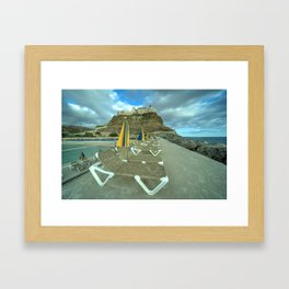 Canarian Loungers  Framed Art Print