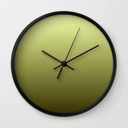 Yellow Olive Green Backgrund Wall Clock