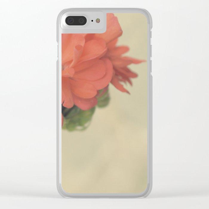Zonal Pelargonium Flower Clear iPhone Case