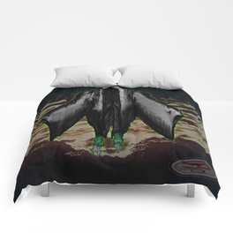 """BOO! the ghoul"" Darrell Merrill Comforters"