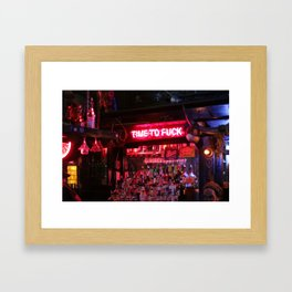 Time To What  Framed Art Print
