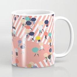 Crossing The Street On a Rainy Day Coffee Mug