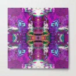 Purple digital patchwork Metal Print