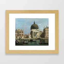 Venice: S. Simeone Piccolo by Follower of Canaletto Framed Art Print
