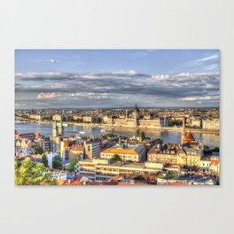 Budapest City View Canvas Print
