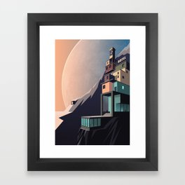 Interplanetary arrivals Framed Art Print