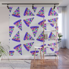 Purple Rainbow Pizza! Wall Mural