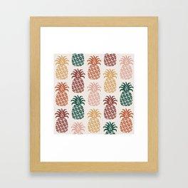 Retro Mid Century Modern Pineapple Pattern 477 Framed Art Print