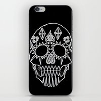 led zeppelin iPhone & iPod Skins featuring LED Skull by Max Wellsman