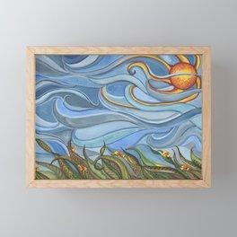 Windy Day Framed Mini Art Print