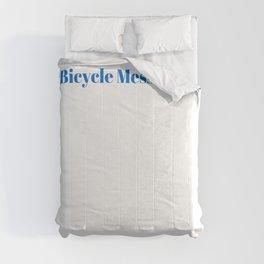 Bicycle Messenger Ninja in Action Comforters