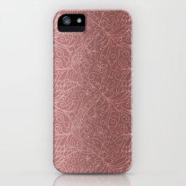 Rose Gold Floral Garden iPhone Case