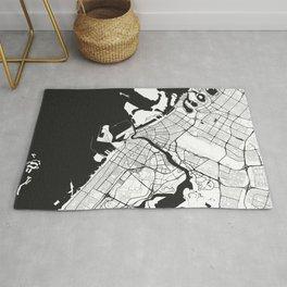 Dubai City Map Gray Rug