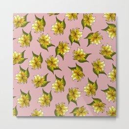 Floral Bliss - II - Dusty Rosy Pastel Pink Palette  Metal Print