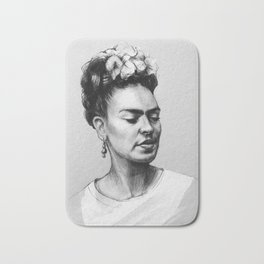 Portrait of Frida Kahlo Bath Mat