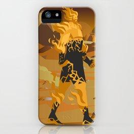 fire titan elemental creature iPhone Case