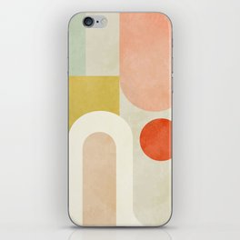 geometry abstract pastel iPhone Skin