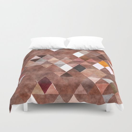 Retro Triangles Pattern 04 Duvet Cover