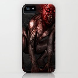 Angry Demon iPhone Case