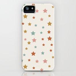 Star Pattern - Vintage Rainbow iPhone Case
