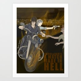 Carol and Daryl A match made in hell Art Print