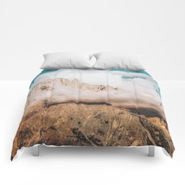 Mountains in Clouds.  Nature Landscape Photography Comforters