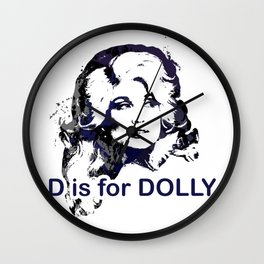 D is for Dolly Parton Wall Clock
